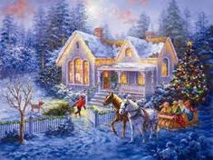 Image result for christmas winter scenes