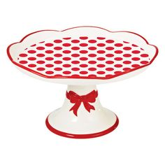 Red Lollipop Cake Plate