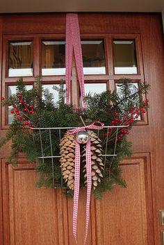 """bicycle basket Christmas """"wreath"""""""