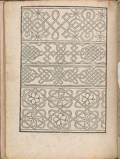New Modelbüch allen Nägerin u. Sydenstickern (Page 6v).  Hans Hoffmann.  1556.