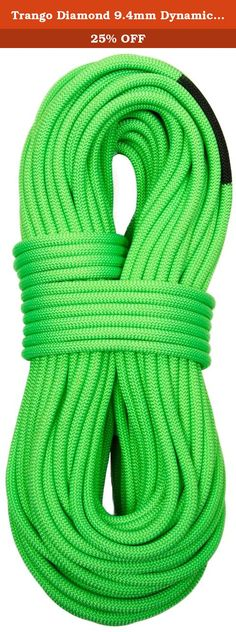 Trango Diamond 9.4mm Dynamic Climbing Rope - 70m Green. The Diamond is our Single Rope of choice for everything from redpoint burns to big routes with long approaches. Exceptionally durable for its narrow diameter, this rope is more than just eye-catching.