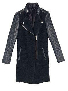 Quilted sleeve coat, £139, Zara   - Cosmopolitan.co.uk