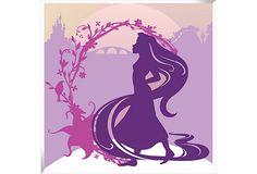 Silhouette Princess Print