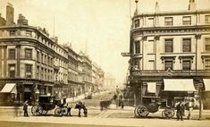 South Castle Street looking up to what is now Derby Square. Liverpool Life, Liverpool History, Liverpool England, Liverpool Street, Liverpool Football Club, Old Pictures, Old Photos, Horse Transport, Victoria Reign