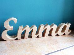 Prénoms en bois EMMA