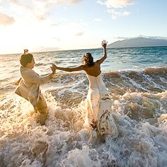A picture-perfect wedding in Hawaii was followed by this gorgeous trash-the-dress session.