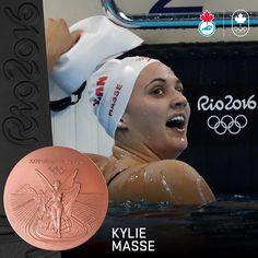 Another 🏊🏻 medal! @kyliemasse has delivered bronze for #TeamCanada in the 100m backstroke. #Rio2016. 🇨🇦👏 // Une autre médaille en 🏊🏻! Kylie Masse a capturé le bronze pour #ÉquipeCanada au 100 m dos. #Rio2016 Olympic Sports, Olympic Team, Canada, Bronze, Rio 2016, Summer Olympics, Swimmers, Is 11, Kylie