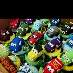 Movie Cars cupcakes children birthday party