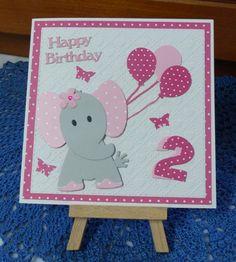 Glückwunschkarten - Karte,Geburtstag,Elefant, - ein Designerstück von Wollzottel bei DaWanda
