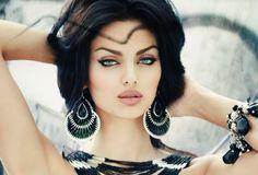 Rahi Jaberi Persian Iranian model stunning eyes and face
