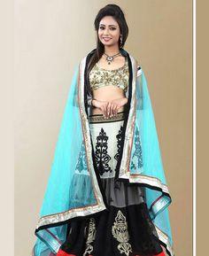 Buy Lovely Black Lehenga Choli online at  https://www.a1designerwear.com/lovely-black-lehenga-choli-2  Price: $53.58 USD