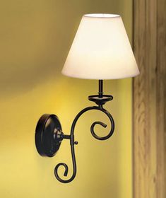 New Remote Control Cordless Vintage Wall Lamp Sconce Light Has 5 Bulbs Each  Bulb Is LED. Mount This Easily On Any Wall. Metal Scrollwork Frame With  Fabric ...