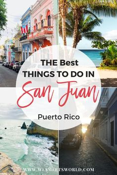 "Ideas on the most incredible things to do in San Juan. Puerto Rico isn't called the ""Island of Enchantment"" for nothing! Find incredible beach destinations, adventure travel, nightlife, rum cocktails, and get lost walking the streets of Old San Juan. #bucketlisttravel #traveldestinations #puertorico"