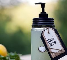 Homemade Hand Soap - Pure Castile Soap, water, & peppermint oil  :))