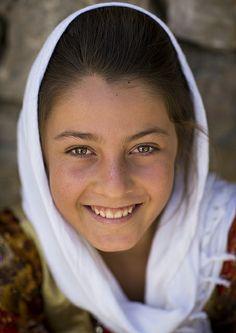 Smiling Kurdish Girl, Palangan, Iran | Eric Laforgue