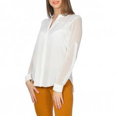 Bluza dama cu maneci ajustabile Alba, Buttons, Tops, Women, Fashion, Moda, Women's, Fashion Styles, Woman