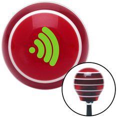 Green Wireless Red Stripe Shift Knob with M16 x 15 Insert