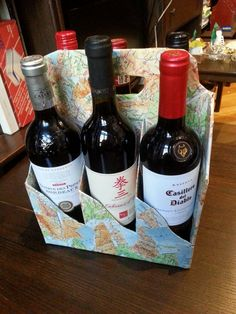 Gift carrier with six bottles of wine