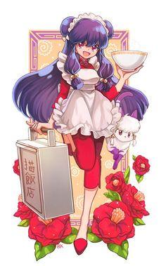 Shampoo from Ranma Art Manga, Manga Anime, Anime Art, Manga Drawing, Tsundere, Ranma Y Shampoo, Character Art, Character Design, Cat Icon