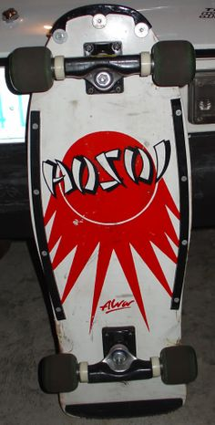 Really cool board. Bought this board in the early one of my favorites Alva Skateboards, Old School Skateboards, Vintage Skateboards, Complete Skateboards, Skater Girls, Skateboard Decks, Old Skool, Fish Tail, Skate Board