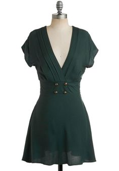 Four Square Dress in Forest, #ModCloth ... oooo, I want it so bad!