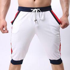 0ab88c585e PRO Fitness Jogger Running Sweatpants Men's Casual Drawstring Sports Shorts  #clothing #apparel #fashion