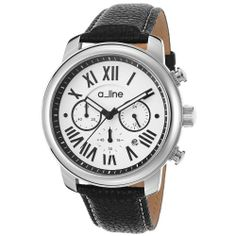 a_line Amor 80163-02 46mm Stainless Steel Case Leather Mineral Women's Watch | WatchCorridor