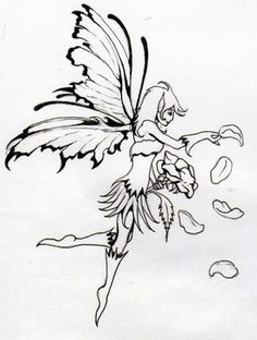 fairy tattoo sketch 3