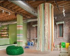 Sod Room Eco-Friendly Indoor Playroom with Recycled Furniture