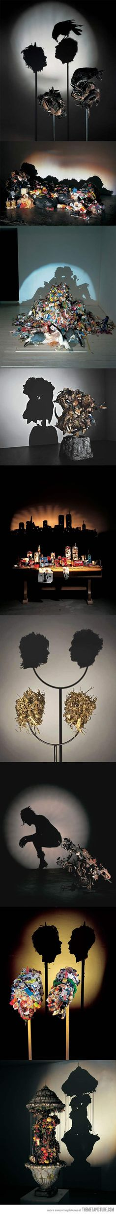 Amazing shadow art. How do they do that???