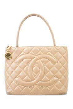 Vintage Chanel Beige Caviar Medallion Shoulder Bag by What Goes Around Comes Around on @HauteLook