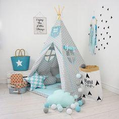 Childrens teepee, playtent, tipi, zelt, wigwam, kids teepee, tent, play teepee, wigwam with mat- Imaginary Friend