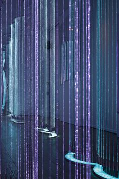 """langste: """"Artist Bruce Munro's latest piece Cantus Arcticus is inspired by a piece of music of the same name by Finnish composer Einohujani Rautavaara and features shimmering curtains of light which..."""