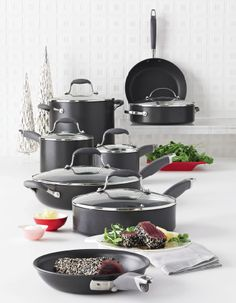 Anolon cookware, super expensive :( maybe a little at a time? :-)