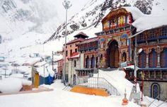 Badrinath is a holy town and a nagar panchayat in district in the state of India. It is the most important of the four sites in India's pilgrimage and gets its name from the temple of Badrinath. Tourist Places, Places To Travel, Honeymoon Tour Packages, Haridwar, Temple Architecture, Om Namah Shivaya, Visit India, India Tour, Hill Station