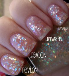 Revlon Heavenly Nail Polish VS Deborah Lippmann Stairway To Heaven