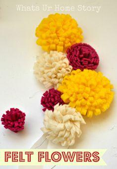 How to make felt flowers www.whatsurhomestory.com