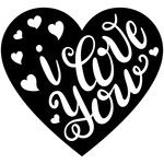 Silhouette Design Store: Hand Lettered I Love You - San Valentin Regalos Caja Silhouette Cameo, Silhouette Projects, Silhouette Design, Silhouette Store, Silhouette Images, Gravure Laser, Love You, My Love, Vinyl Crafts
