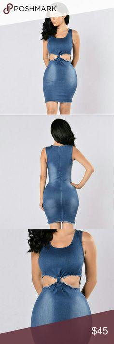 Denim dress Super stretchy. Brand new. Fashion Nova Dresses