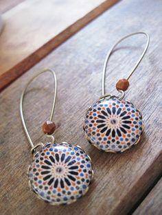 Spanish Islamic earrings Alhambra Spain by ShrunkenCatHeads, $29.00