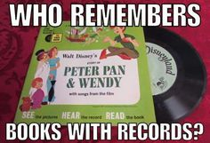 Who remembers books with records?