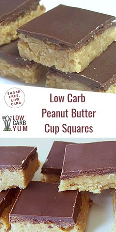 One of the best keto peanut butter recipes! It's a peanut butter fudge topped wi… One of the best keto peanut butter recipes! It's a peanut butter fudge topped with chocolate. These bars taste just like keto peanut butter cups! Peanut Butter Cups, Chocolate Peanut Butter Squares, Peanut Butter Recipes, Chocolate Butter, Chocolate Caramels, Chocolate Desserts, Cheesecake Recipes, Cupcake Recipes, Cookie Recipes