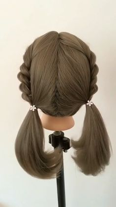 28 Spring Cute Braids Ponytail Hairstyles braided hair tutorial for women or girl - No matter the length of hair, girls can have braided hair style. But this year, girls may as well b - Braided Ponytail Hairstyles, Bun Hairstyles For Long Hair, Girl Hairstyles, Hairstyle Braid, Images Of Hairstyle, Ponytail Easy, Braids Easy, Braids Cornrows, Braided Buns