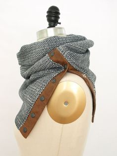 This is a brilliant idea to make any scarf an infinity scarf. Just add buttons or snaps to the end of a scarf. That way you can wear it normally or infinity.