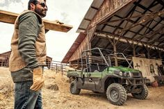 New 2016 Kawasaki Mule Pro-FX™ EPS ATVs For Sale in Kansas. The Mule PRO-FX™ EPS Side x Side has Electric Power Steering that self adjusts to deliver the necessary steering assistance based on speed, while also damping kickback to the steering wheel. Cargo bed can fit a standard size 40 x 48 pallet with up to 1,000 lbs. of cargo capacity 812 cc three-cylinder engine with massive torque, impressive pulling power, and smooth acceleration to tow heavy loads across rugged terrain The ladder-type…