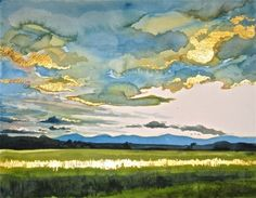 Heaven on Earth - original watercolor landscape by Gretchen Kelly -- Gretchen Kelly