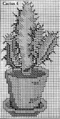 Punto de Cruz GRATIS: Cactus bordados en Punto de Cruz