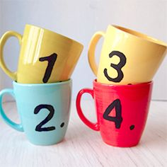 Create stencils with your home computer and printer to stencil coffee mugs.