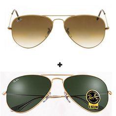 Kit Com 2 Oculos De Sol Masculino feminino Aviador Escolha   Oculos ... f4f0368eac