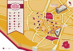 Isometric map for Brussels Food Truck Festival on Behance